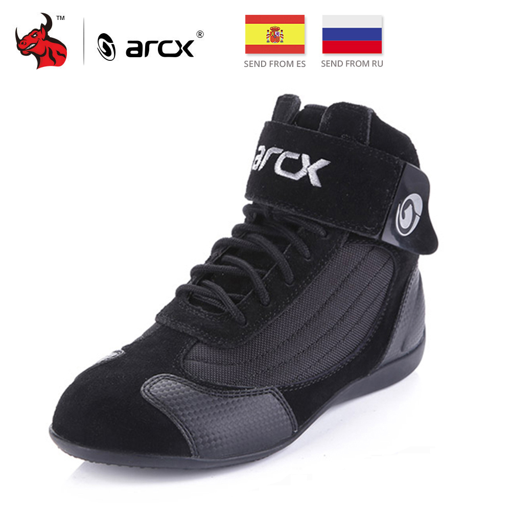 ARCX Motorcycle Boots Men Moto Riding Boots Summer Breathable Motorcycle Shoes Motorbike Chopper Cruiser Touring Ankle Shoes # купити накладки спиннер на руль