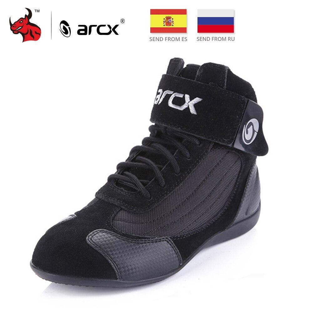 ARCX Motorcycle Botas Homens Moto Equitação botas de Verão Respirável Botas Sapatos Motocicleta Moto Chopper Cruiser Touring Sapatos Tornozelo #