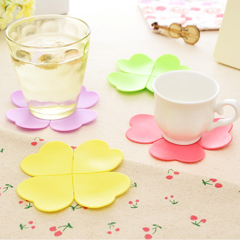 5 color creative 3d coaster flower shape cup mat table decoration insulation matchina