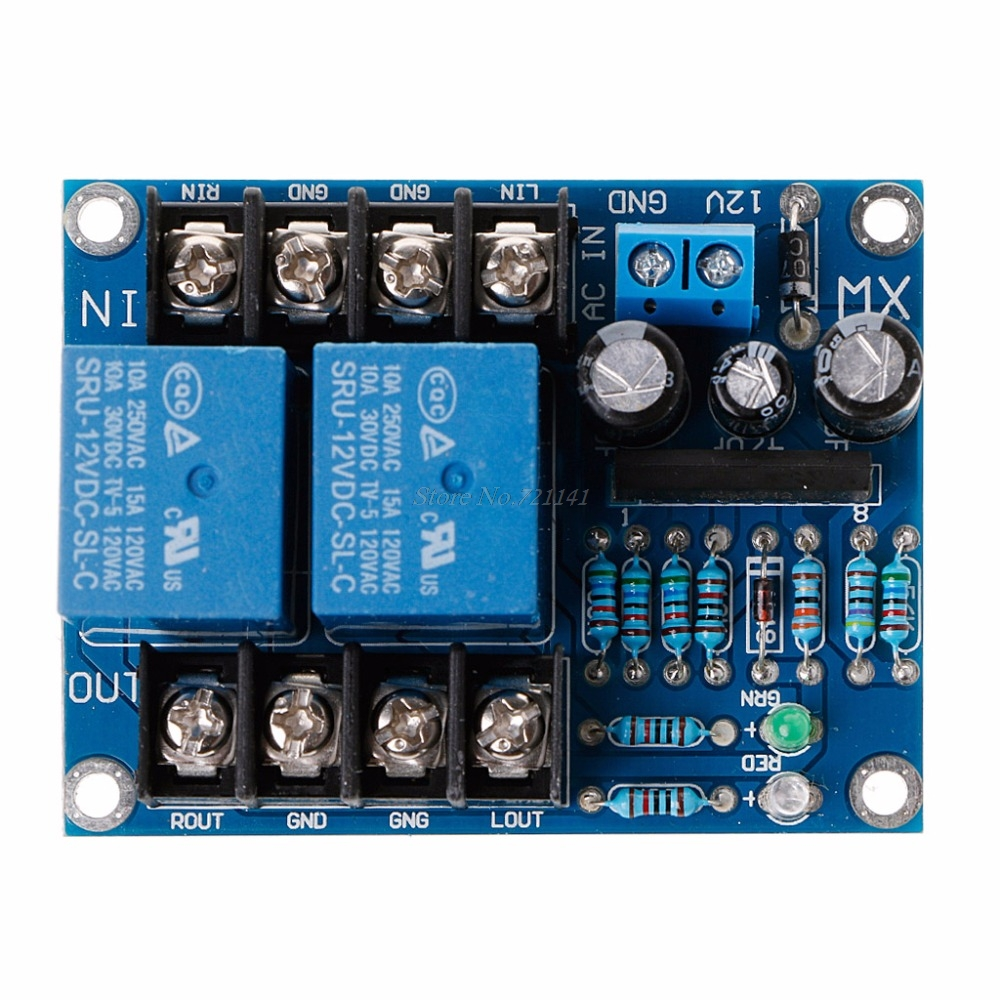 DC 12-24V UPC1237 Dual Channel Speaker Protection Circuit Board Boot Mute Delay Integrated Circuits