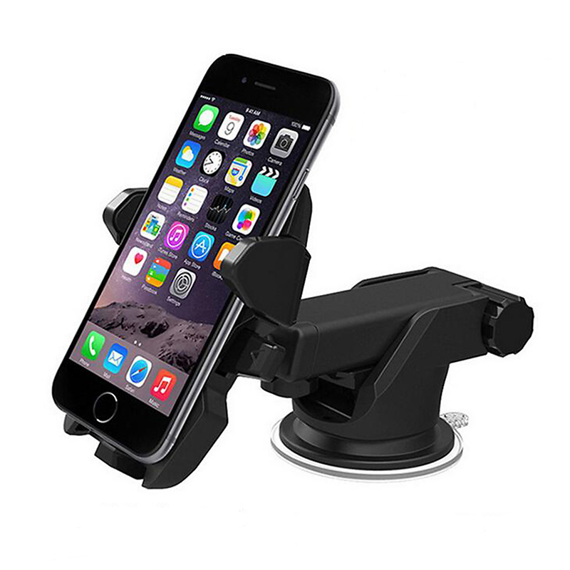 Universal Car Phone Holder Mount Stand 360 Rotate Adjustable Phone Holder for iPhone 7 6 6s plus Samsung Xiaomi Redmi