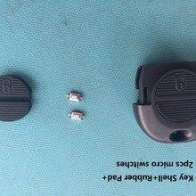 Key-Case Micro-Swicthes Almera Nissan Micra Xtrail Car-Accessories Remote-Shell 2-Button