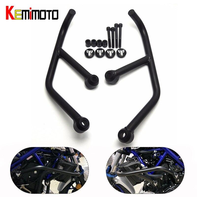 KEMiMOTO Accessoires Moto Pour Yamaha MT-03 MT-25 MT03 MT25 MT 25 2015 2016 2017 Moteur Protetive Garde Arceau Protecteur