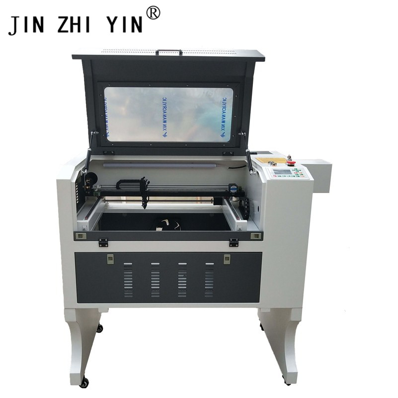 4060 CO2 Laser Cutting And Engraving Machine 80w Long Material Pass For Wood Glass Non-metal Ruida 6442s System