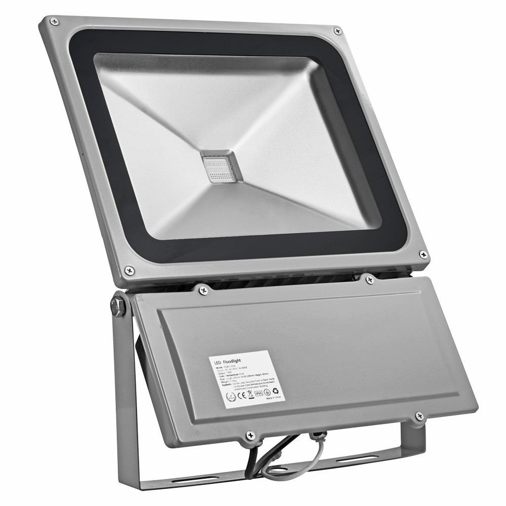 6pcs 100W RGB LED Floodlights Outdoor Waterproof Flood Light Wash Floodlight Spotlight Lighting With Remote Controller AC85-265V