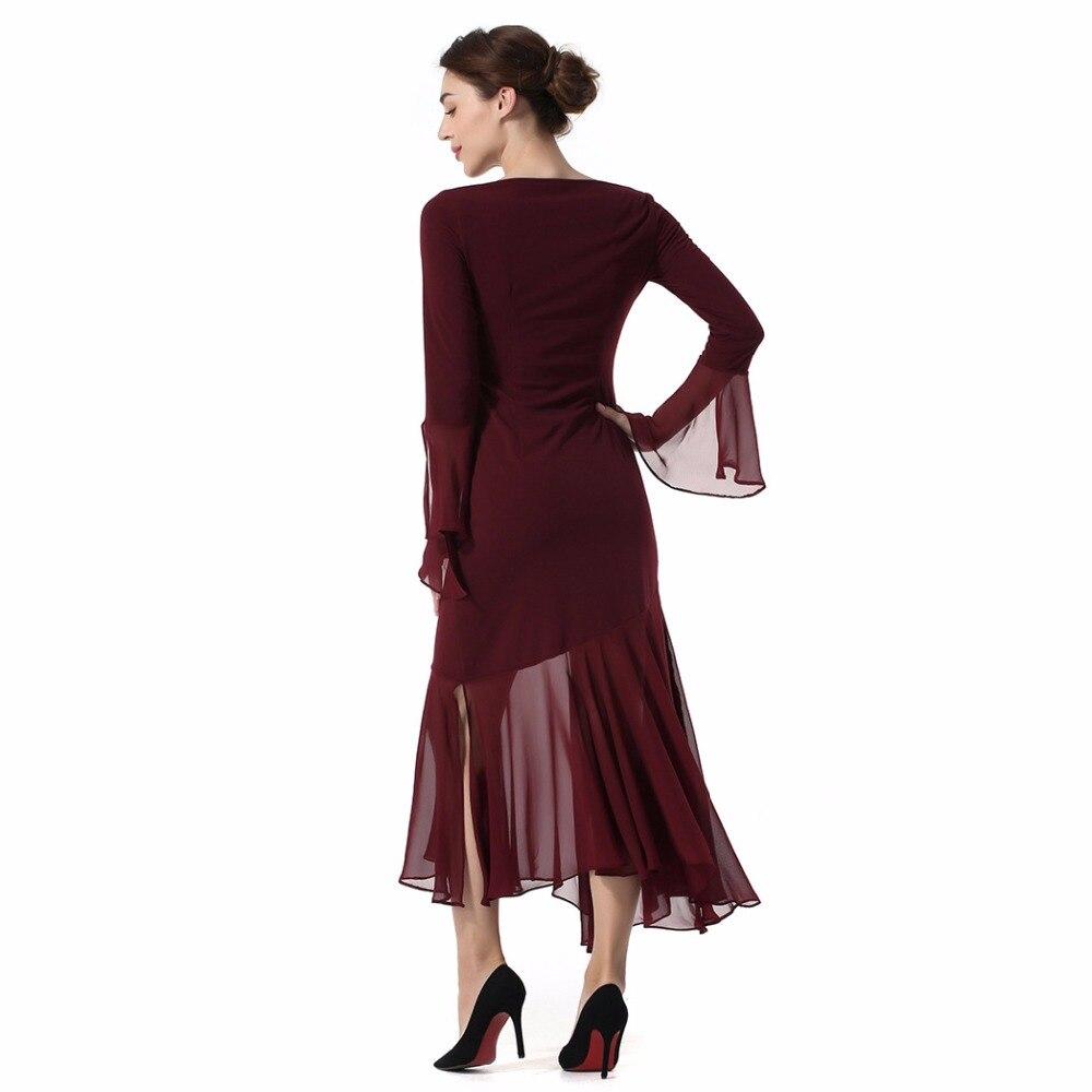 Haute Conception Red Qualité Robe À Ourlet Femmes Originale Longues Irrégulière Couture Mince De Vêtements Manches Robes Dentelle 85awqf