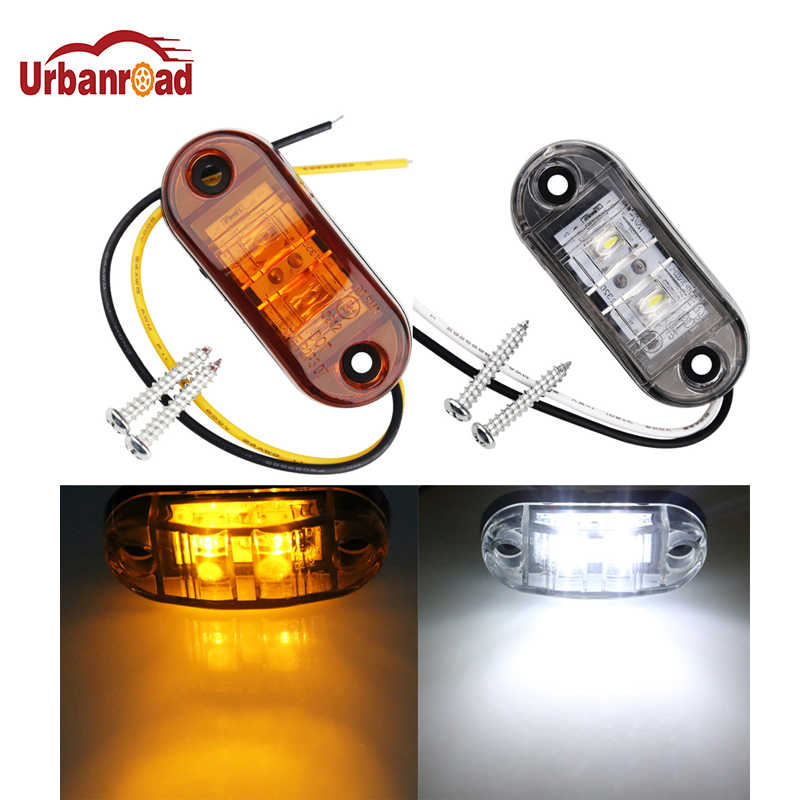 Urbanroad 1PCS Universal Car Led Side Marker Lights For Trailer Trucks Caravan Side Clearance Marker 9-36V Side Marker Light
