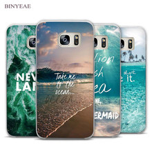 BINYEAE Neverland Ocean Sea Wave Quote Clear Phone Case Cover for Samsung Galaxy Note 2 3 4 5 7 S3 S4 S5 Mini S6 S7 S8 Edge Plus(China)