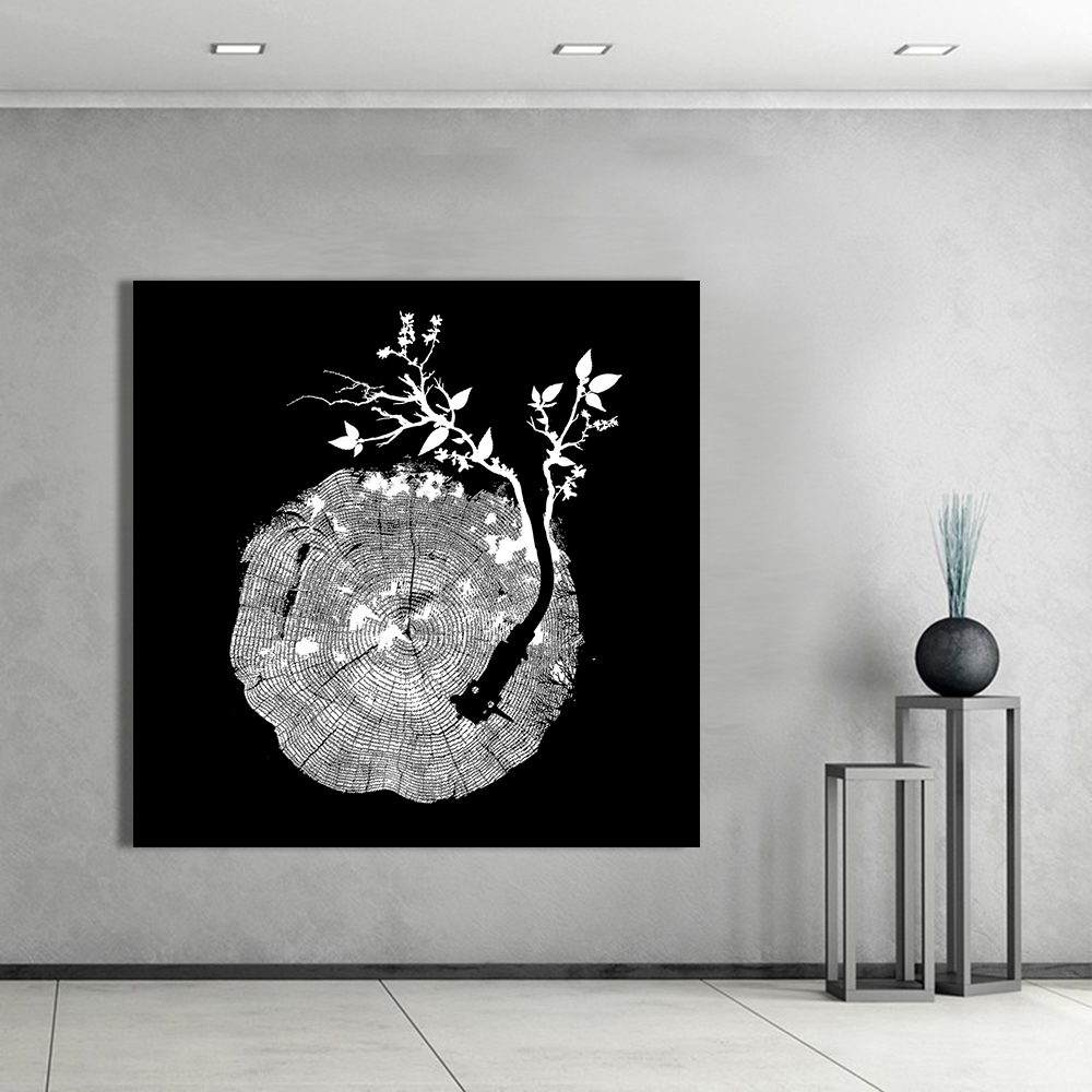 WANGART Wall Pictures For Living Room Stump Life End And Begins Abstract Art Painting Home Decor Painting No Frame