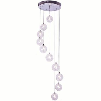 Aluminum Wire Ball Dining Room Pendant Light 2M Height Spiral Stair Case Hanging Lamp Living Room Restaurant Pendant Lights modern pendant lights spherical design white aluminum pendant lamp restaurant bar coffee living room led hanging lamp fixture