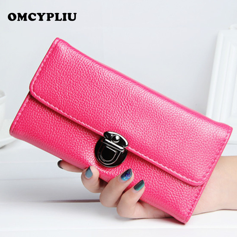 2017 Women Wallet Long Ladies Leather Wallets Brand Clutch Bag Retro Coin Purses Dollar price Female Purse Card Holder ganzo g734 черный