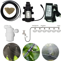 C193 12V Misting Pump Water Sprayer with 25M Hose 20pcs Nozzles Mister Inline Filter for Spraying Plants against Insect Pests