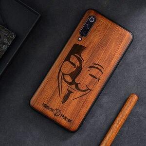 Image 5 - Резной деревянный чехол на заказ для Xiaomi Mi 9 SE, чехол funda для Xiaomi mi 10 mi 9 8 mi8 lite mix 3 2s, деревянный защитный чехол из ТПУ