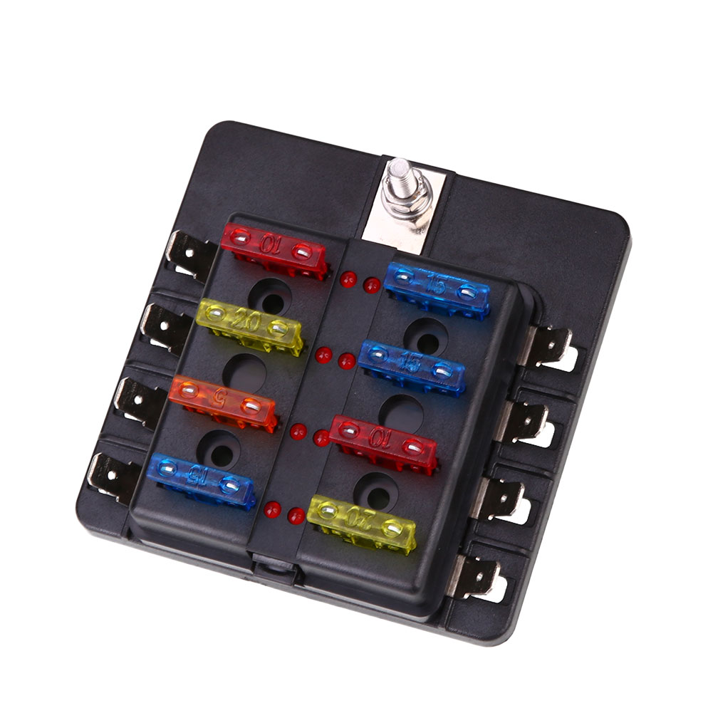 vehemo fuse box 8way led indicator light fuse indicator safety pc wiring terminal in fuses from automobiles motorcycles on aliexpress com alibaba group [ 1001 x 1001 Pixel ]