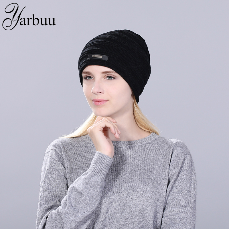 [YARBUU] Brand Beanies Knit Winter Hats For Men Women new fashion high quality Skullies hat Warm winter and Autumn cap wholesale fashion printed skullies high quality autumn and winter printed beanie hats for men brand designer hats