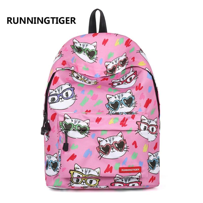 Детские школьные сумки холст Для женщин рюкзак Повседневное школьные сумки для подростков печати рюкзаки для мальчиков и девочек Mochila Escolar ...