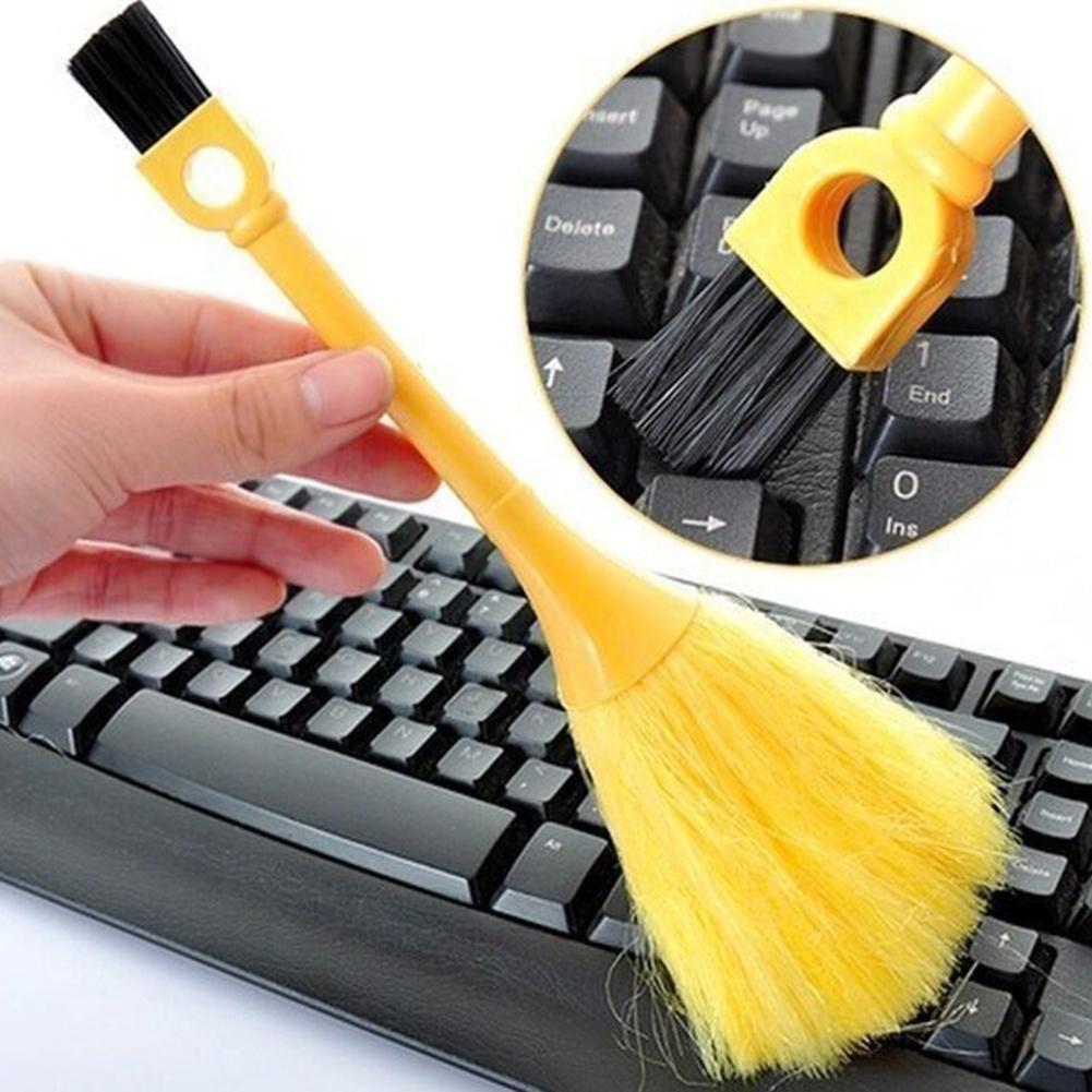 Портативная мини-щетка для клавиатуры Настольный книжный шкаф для удаления пыли метла чистящий инструмент щётка для чистки клавиатуры
