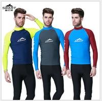 Sbart 남성 잠수복 다이빙 정장 아저씨 roupas 드 서핑 남성 서핑 셔츠 UV 보호 수영 게임 수영복 긴 소매 티셔츠 3XL