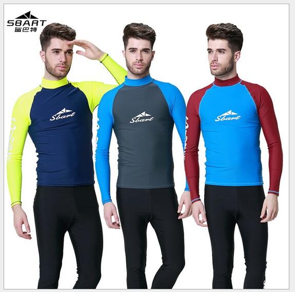 e5a2f4f60c0a € 26.07 |Sbart hombres Neoprenos buceo Trajes Hombre Ropa de surf camisa UV  protegido Natación juego baño manga larga camiseta 3xl en Bodis de ...