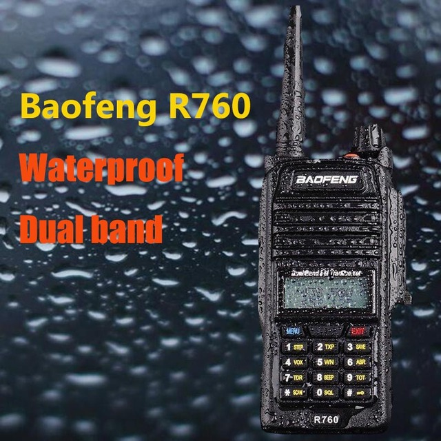 US $39 9 |Baofeng R760 walkie talkie waterproof IP 67 Anti dust noise  reduction circuit long distance Amateur radio comunicador 10 km -in Walkie