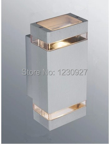 Grey color High-power LED outdoor waterproof villa balcony door head wall light up and down aluminum column led wall light toika 2pcs lot 80w100w120w e27 base aluminum corn light high power led bulb outdoor smd5730 waterproof using