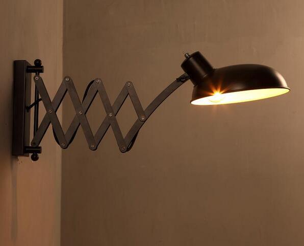Lampada Vintage Da Parete : Loft vintage telescopica riparo della parete e27 * 1 bagno a