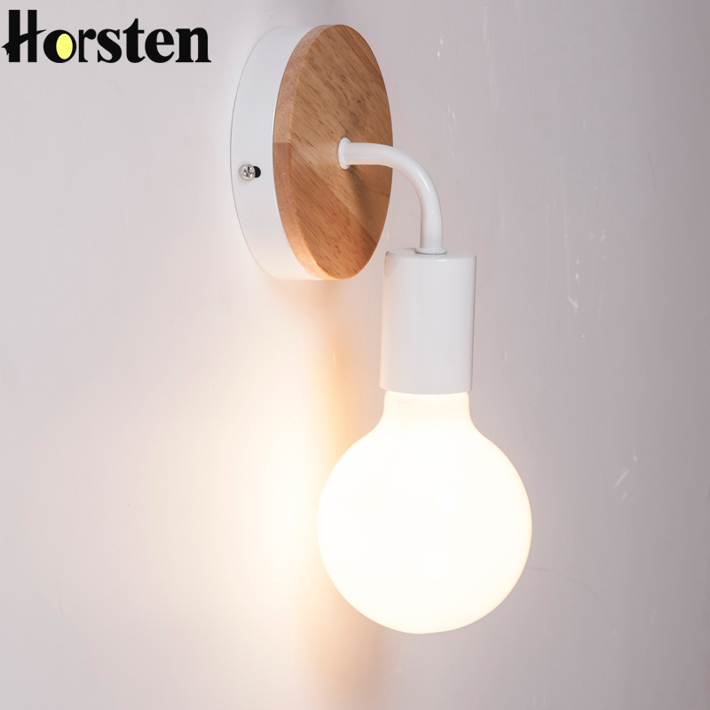 Horsten מודרני Minimalism קיר מנורה נורדי עץ - תאורה פנימית
