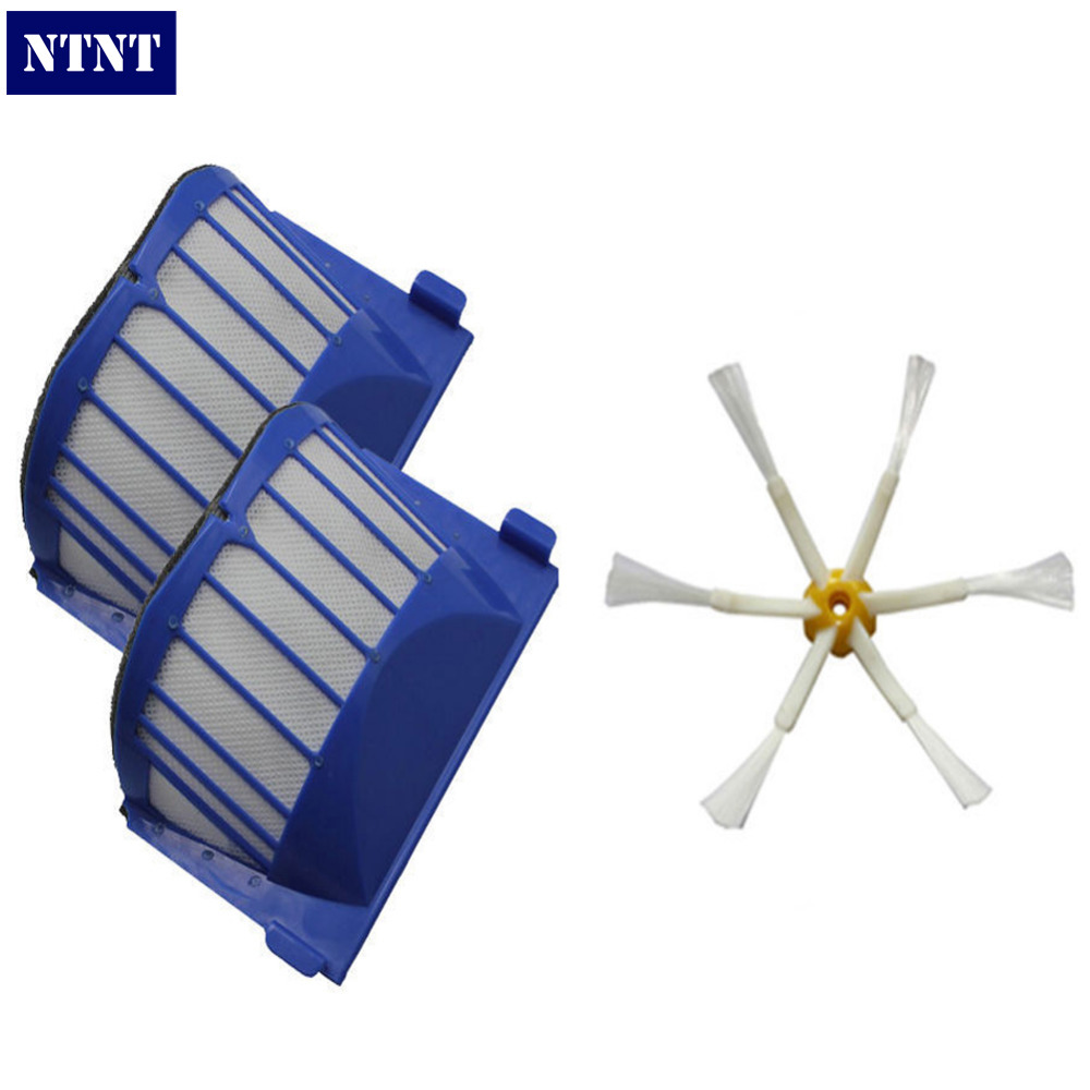 NTNT Free Post New 2 x AeroVac Filter + Brush 6 armed for iRobot Roomba 500 600 Series 620 630 650 free post new blue 6 x aerovac filter for irobot roomba 600 series 620 630 650 660 670 680