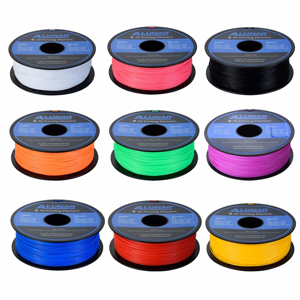 Prix pour Vente chaude Pleine Couleurs En Option 3d imprimante filament PLA/ABS 1.75mm 1 kg/roll pour MakerBot/RepRap/kossel/Createbot 3d imprimante 3D Stylo
