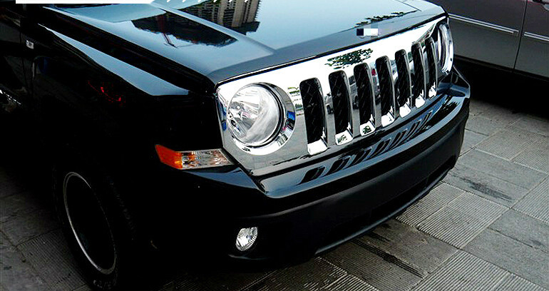front center grille grill frame cover trim 1pcs For Jeep Patriot 2011 2012 2013 2014 2015 car front center grille grill frame