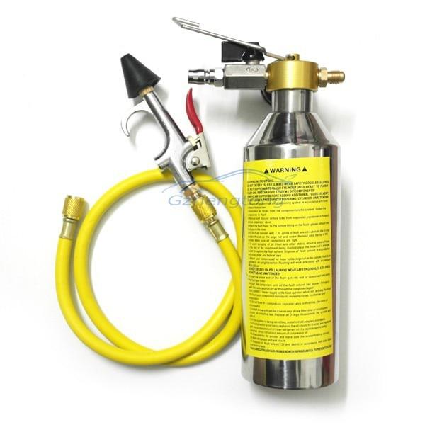 Auto <font><b>Air</b></font> <font><b>Condition</b></font> AC <font><b>System</b></font> Flush Canister Gun <font><b>Kits</b></font> Clean Tool Set R134 R12 R22 R410 R404 Car HVAC Parts Accessories