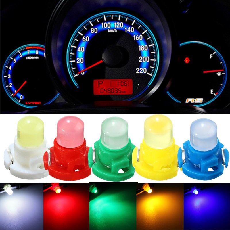 10x T4 LED Auto Car Neo Wedge Dashboard Instrument Cluster Lights  Panel Gauge Dash Bulbs White/Blue/Red/Green/Yellow DC 12V 11pcs new red nylon auto car audio door dash tirm panel install