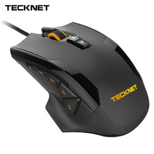 TeckNet 16400DPI Gaming Mouse Laser Mouse 10 Programmable Macro Button RGB Backlight 3 LED Light Modes Wired MMO Computer Mice