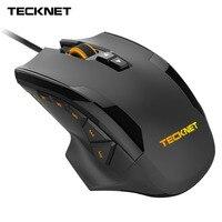 Tecknet 16400 dpiゲーミングマウスレーザーマウス10プログラマブルマクロボタンrgbバックライト3 ledライトモード有線mmoコンピュータマウ