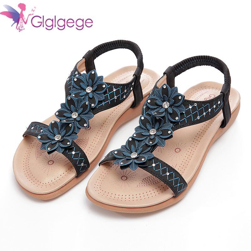 Glglgege New Flat with Sandals Woman PU Leather Women's Platform Sandals Shoes Thick Bottom Plus Size Student's Shoes Sandals цена 2017