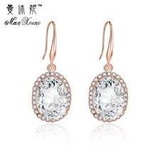 Trendy Earring Egg Round Crystal Earrings