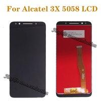 100% 테스트 alcatel 3x5058 5058a 5058i 5058j 5058 t 5058y lcd 디스플레이 + 터치 스크린 부품 디지타이저 수리 부품 + 도구