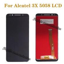 100% test Alcatel 3X5058 5058A 5058I 5058J 5058T 5058Y lcd ekran + dokunmatik ekran bileşenleri sayısallaştırıcı onarım parçalar +