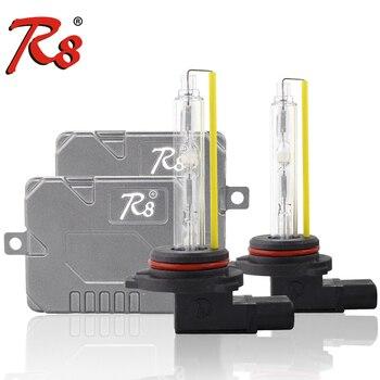 ксеноновые лампочки   R8 супер тонкий балласт Canbus 55Вт HID Xenon комплект H1 H3 H4 H7 H8 H13 H11 9005 9006 880 светильник лампы для фар ошибка Предупреждение Бесплатная с EMC