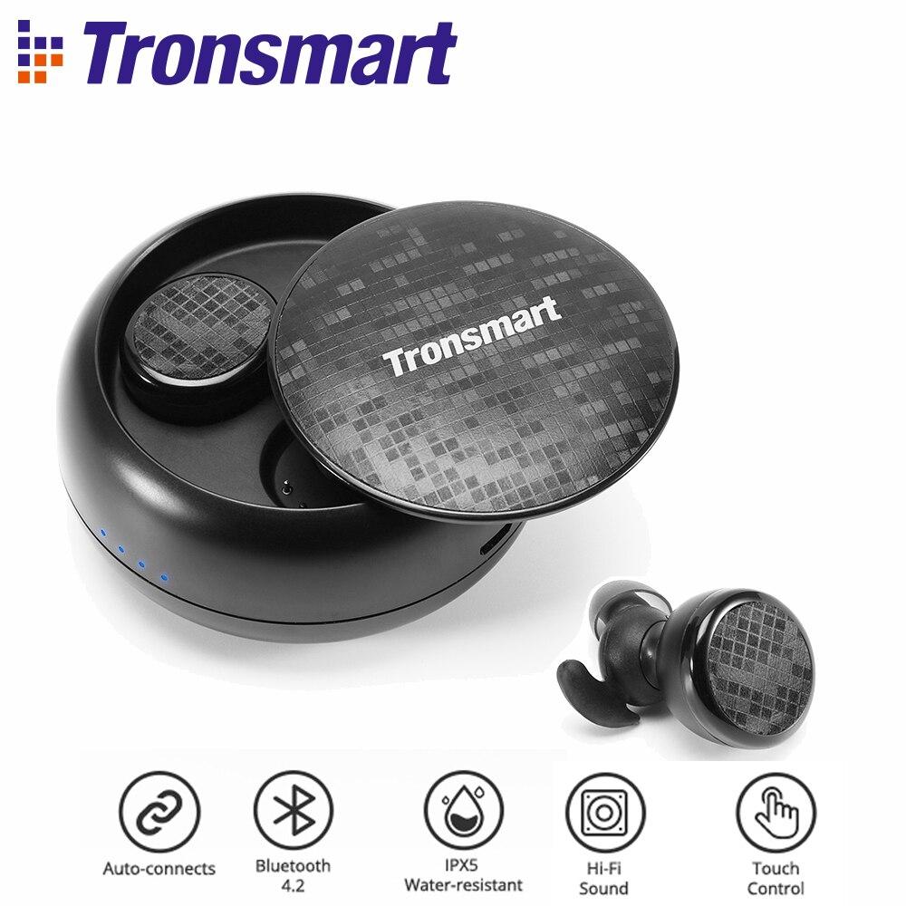 Tronsmart Encore Courageux Bourgeons écouteurs bluetooth Sans Fil Écouteurs stéréo sans fil Écouteurs IPX5 avec Micro Contrôle Gestuel TWS
