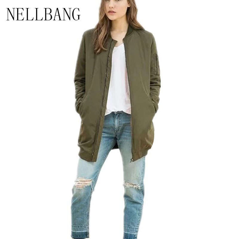 Nellbang Casual long wide waist jacket cotton liner pocket parkas women coat 2017 new winter fashion women s cotton padded long jacket winter leisure wild long cashmere wool liner coat casual pocket zipepr parkas mujer jy 805