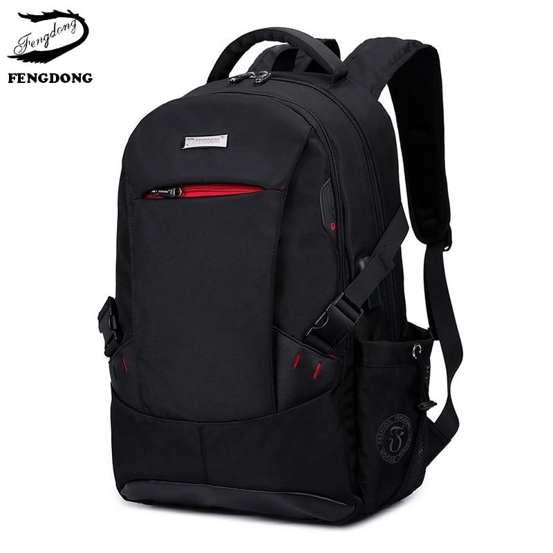 64fb4bf816d FengDong 2019 Men Backpack Anti Theft Business Laptop Travel Men Shoulder  Bag Large Capacity Backpack Male