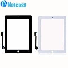 Para el ipad 3/4 de la Pantalla Táctil Negro/blanco pantalla táctil de cristal digitalizador de repuesto para el ipad 3 4 panel Táctil