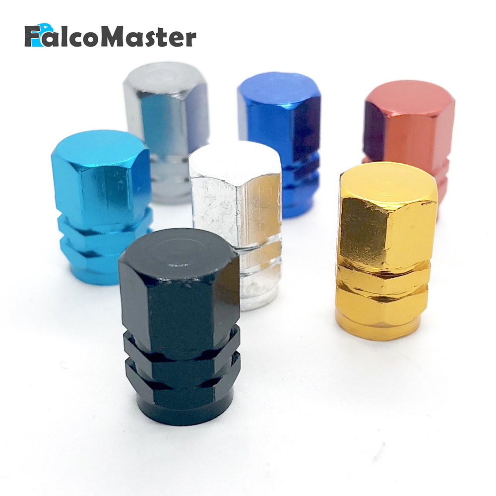 4pcs Aluminum Car Wheel Tires Valves Tyre Stem Air Caps Airtight Cover High Quality Car-styling Cap Sliver/Red/Lake Blue/Golden