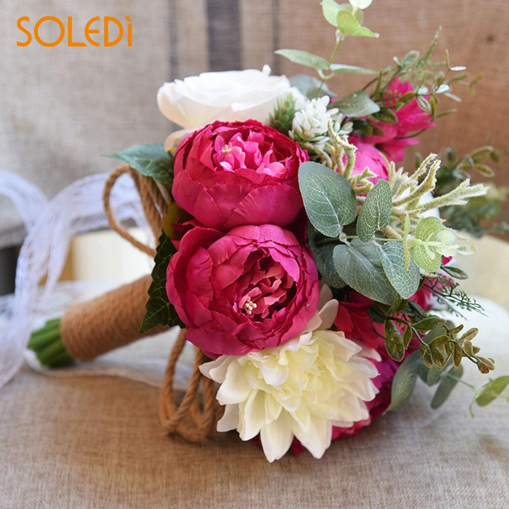 5 Color Simulation Peony Flower Handmade Craft Decoration Elegant ...