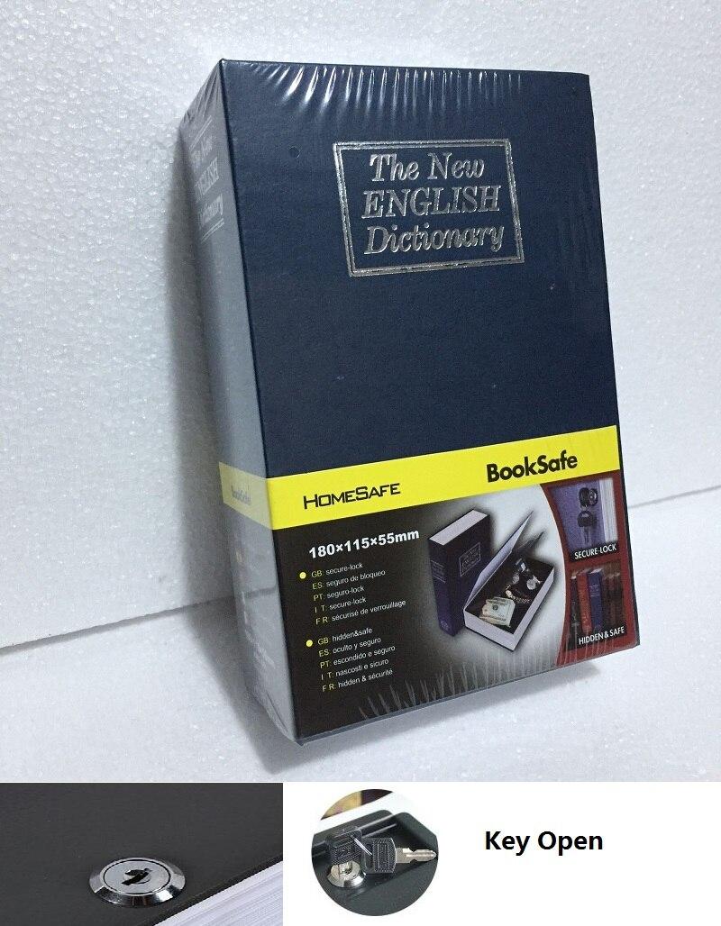 18cm*11.5cm*5.5cm English BooksSafes Dictionary Creative Safes Box Metal Savings Bank