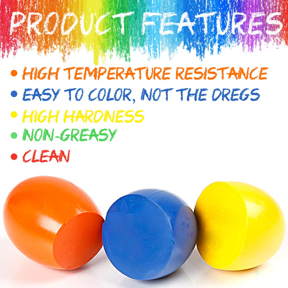 9 Colors Egg Crayons Palm Grasp Crayons for Kids Non Toxic Paint Washable Crayons Baby Children Boys Girls in Drawing Toys from Toys Hobbies
