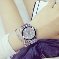 TOP Brand Luxury Rhinestone Watches Women Quartz Wristwatches Ladies Bracelet Watch Clock Hour Relogio Feminino Relojes Mujer