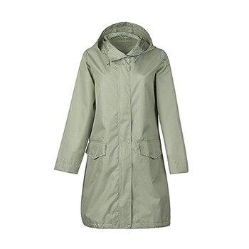 Abrigo largo transpirable para mujer/mujer ponchos traje impermeable pulóver para mujer chubasquero mujer