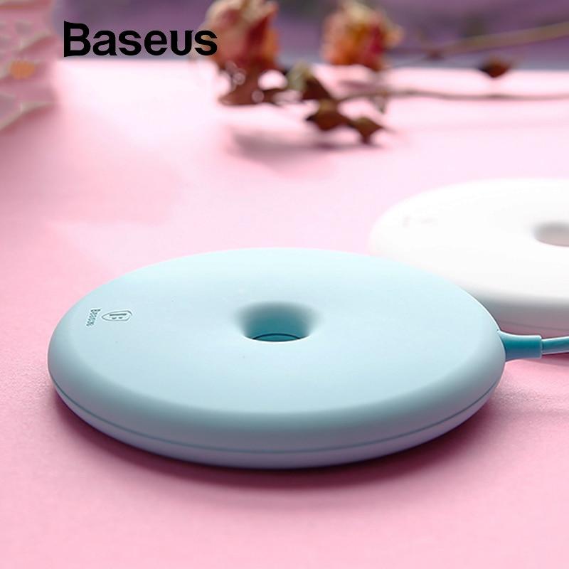 Baseus Donut cargador inalámbrico para iPhone X 8 Samsung Note8 S8 S9 S9 + S7 15 W inalámbrica Qi rápido cargador de carga para teléfono móvil